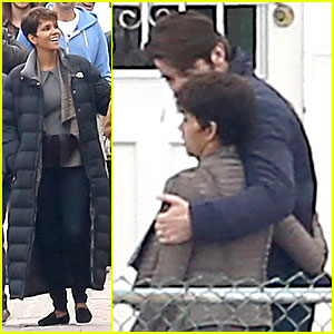 Halle Berry & Goran Visnjic Show Some PDA for 'Extant'!