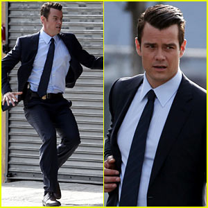Josh Duhamel Jumps Into Action on 'Battle Creek' Set!