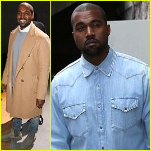 Kanye West Sits Front Row at the Celine Paris Fashion Show
