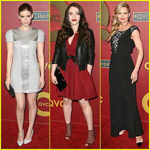 Kate Mara & Kat Dennings: QVC Red Carpet Style Event!