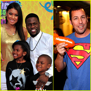 Kevin Hart & Adam Sandler: Funny Guys Win at Kids' Choice Awards 2014!