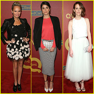 Kristin Chenoweth & Nikki Reed Rock Florals & Stripes at QVC Red Carpet Style Event!