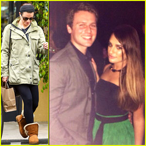 Lea Michele Parties Before the Oscars with BFF Jonathan Groff!