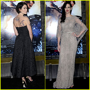 Lena Headey Bares Sexy Tattoos at '300: Rise Of An Empire' Premiere with Eva Green!