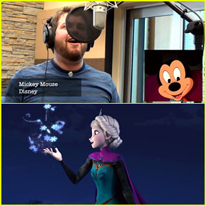 Man Sings Frozen's 'Let It Go' in 21 Different Disney Voices!