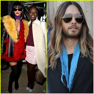 Oscar Winners Lupita Nyong'o & Jared Leto: Miu Miu Fashion Show!