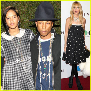 Pharrell Williams & Wife Helen Lasichanh Hit Up Star-Studded MOCA Anniversary Gala!