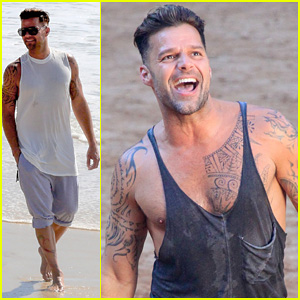 Ricky Martin Films Music Video for World Cup Song 'Vida' in Rio!