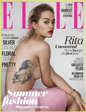 Rita Ora Shows Off Tattoo in Topless Sexy 'Elle UK' Cover!