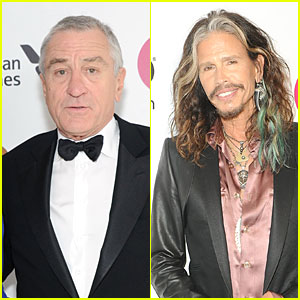 Robert De Niro & Steven Tyler Have Contrasting Styles at Elton John Oscars Party 2014!