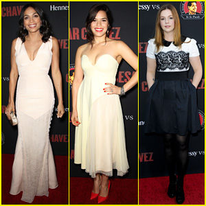 Rosario Dawson & America Ferrera Are Stunning Ladies at the 'Cesar Chavez' L.A. Premiere!