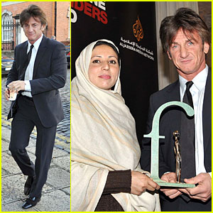 Sean Penn Gives Special Honor to Sawera Founder Noorzia Faridi in Dublin