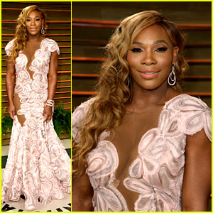 Serena Williams Swings Into the Vanity Fair Oscars Party 2014