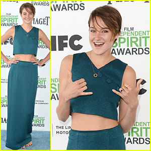 Shailene Woodley Hangs Loose with her Midriff at Independent Spirit Awards!