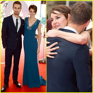Shailene Woodley Hugs Theo James on 'Divergent' European Premiere Red Carpet!