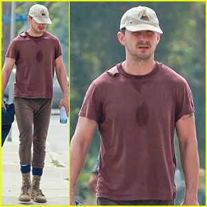 Shia LaBeouf Can't Help But Sweat at the Gym!