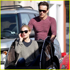 Stephen Moyer is Quite the Chauffeur as He Pedals Anna Paquin in Their Twins' Cargo Bike!
