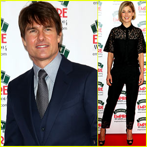 Tom Cruise Joins 'Jack Reacher' Co-Star Rosamund Pike at Jameson Empire Awards 2014