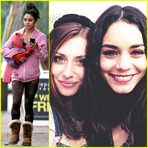 Vanessa Hudgens Helps Celebrate Aly Michalka's Birthday!