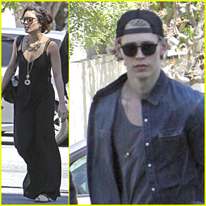 Vanessa Hudgens Shows Her Religious Side at Church with Austin Butler!