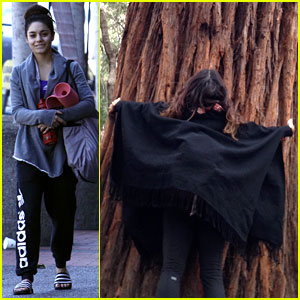 Vanessa Hudgens Loves Hugging Trees - See the Cute Pic!