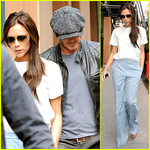 Victoria Beckham Checks the Progress On Her New Store with Hubby David!