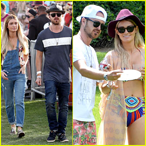 Aaron Paul's Wife Wears a Retro Bikini at Coachella 2014!