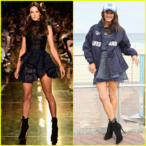 Alessandra Ambrosio Hits the Runway for Alex Perry Fashion Show!