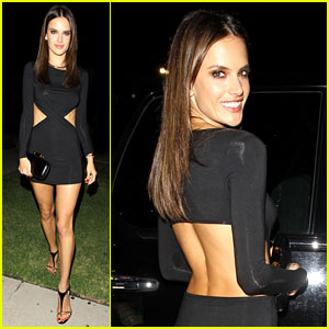 Alessandra Ambrosio Rocks Sexy Cut-Out Dress for Early 33rd Birthday Celebration!