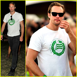 Alexander Skarsgard Checks Out Coachella with Brother Bill!