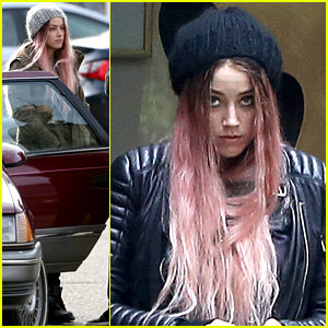 Amber Heard Gets Back to Work After Partying with Her Pals!