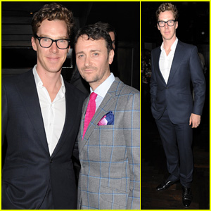 Benedict Cumberbatch Supports Chef Jason Atherton at City Social Restaurant Launch!