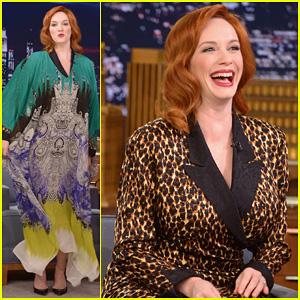 Christina Hendricks Expresses Her Love for Kaftan Dresses on 'Tonight Show'
