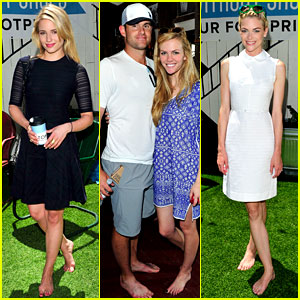 Dianna Agron & Jaime King Go Without Shoes for Toms!