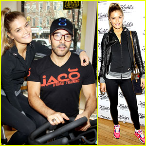Entourage's Jeremy Piven & Nina Agdal Reunite for Cycling Fun!