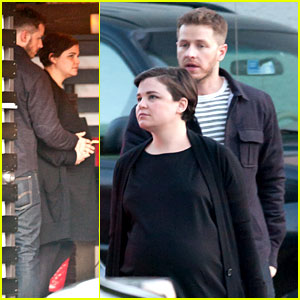 Ginnifer Goodwin & Josh Dallas Hold Her Baby Bump Together!