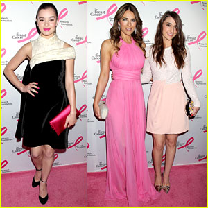 Hailee Steinfeld & Sara Bareilles Hit the Pink Carpet to Fight Breast Cancer