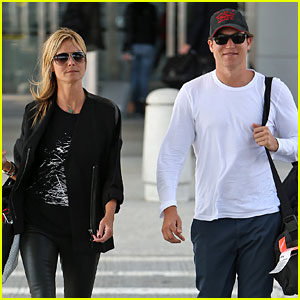 Heidi Klum & Boyfriend Vito Schnabel Home After Mexico Vacation!