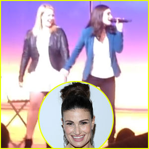 Idina Menzel Sings 'Take Me or Leave Me' with Two Lucky Fans for Charity - Watch Now!