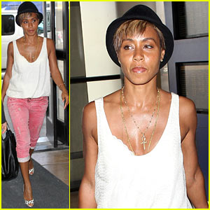 Jada Pinkett Smith Lightens Her Hair, Hides Blonder 'Do Under a Hat!