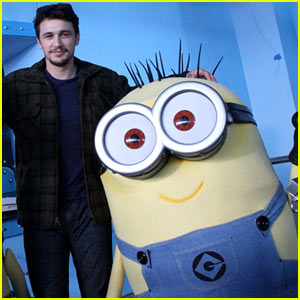 James Franco is First in Line for 'Despicable Me' Minion Mayhem Ride - Watch Now!