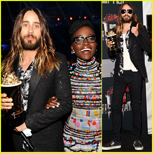 Jared Leto Wins MTV Movie Award, Presented to by Lupita Nyong'o!