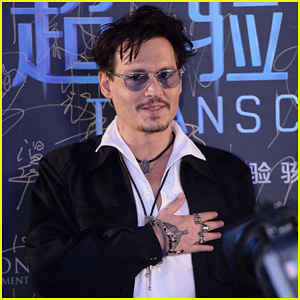 Johnny Depp Hits The 'Transcendence' Premiere in Beijing After Confirming Engagement!