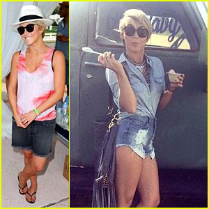 Julianne Hough Turns Into Daisy Duke for Some Coachella Fun!