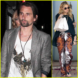 Kate Hudson Hides Behind Fiance Matt Bellamy for No Name Birthday Outing!