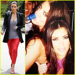 Kim Kardashian Enjoys Telling Younger Sis Khloe to Drink It Up!