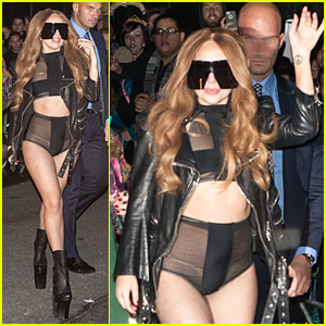 Lady Gaga Makes Revealing High-Waisted Outfit Look Super Sexy!