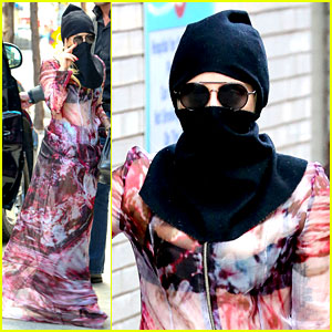 Lady Gaga Covers Her Face in a Burqa After Hospital Visit