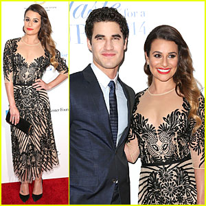 Lea Michele & Darren Criss Smile For a Cancer Cure!
