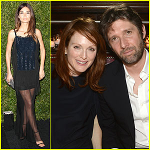 Lily Aldridge & Julianne Moore Are Classy Black at Chanel Artist Dinner!